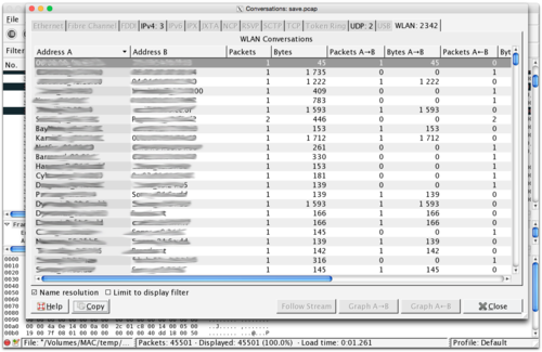 Wireshark/Conversation Analysis - charlesreid1